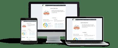 Liveplan黑色星期五网络星期一特卖页面截图跨笔记本电脑,移动和iPad。