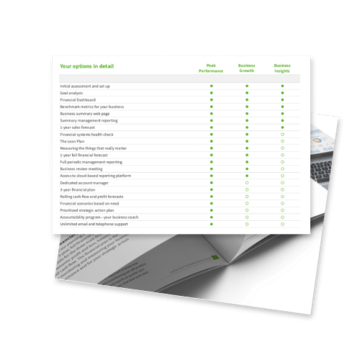 Value pricing brochure content