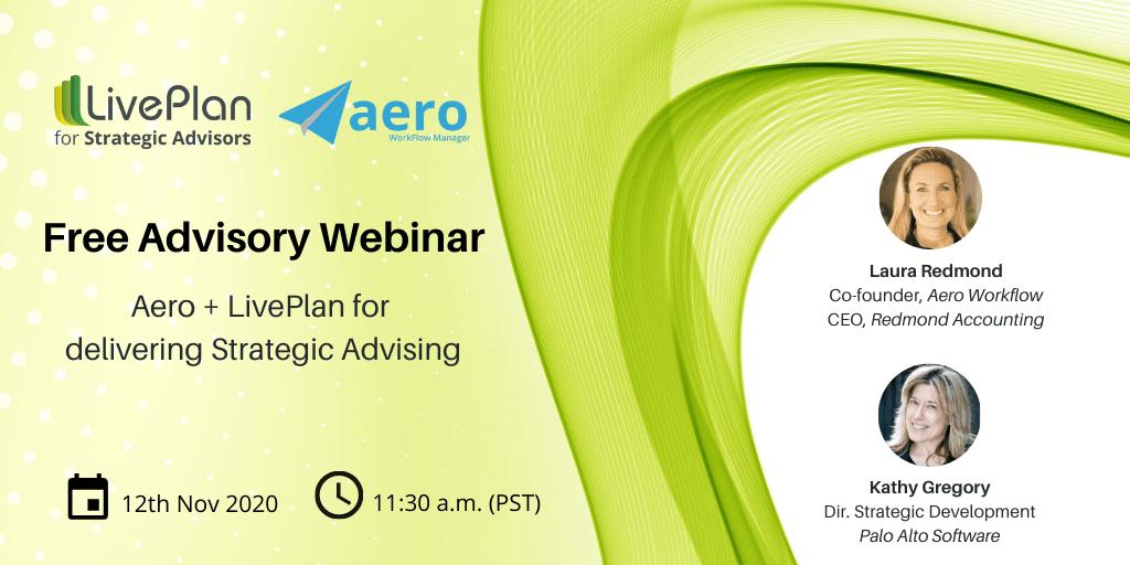 LivePlan plus Aero for Strategic Advisory