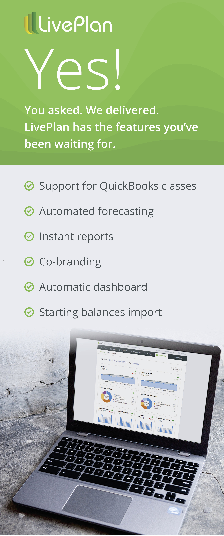 LivePlan features